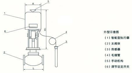 电子式电动顶导向调节阀图片